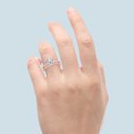 Scalloped Rose Gold Engagement Ring and Wedding Band   Thumbnail 06