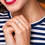 Scalloped Rose Gold Engagement Ring and Wedding Band   Thumbnail 07