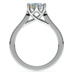 Six Prong Channel Diamond Engagement Ring in White Gold | Thumbnail 02