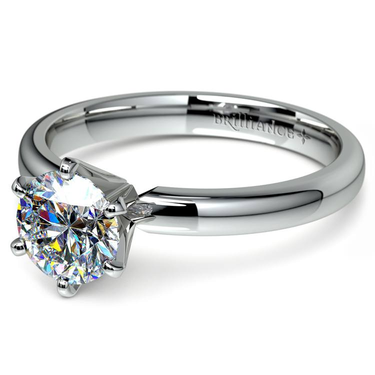 Six-Prong Solitaire Engagement Ring in White Gold (2.5 mm)   04