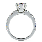 Six-Prong Scallop Diamond Engagement Ring in Platinum | Thumbnail 02
