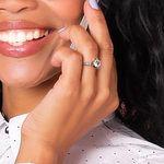 Six-Prong Scallop Diamond Engagement Ring in Platinum   Thumbnail 06
