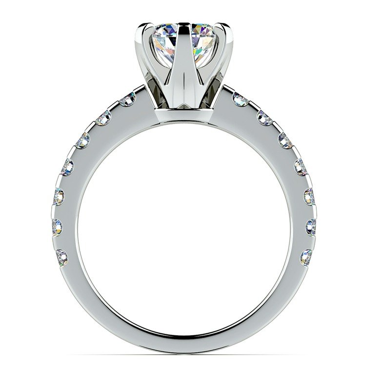 Six-Prong Scallop Diamond Engagement Ring in Platinum | 02