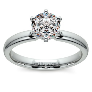 Six-Prong Solitaire Engagement Ring in Platinum