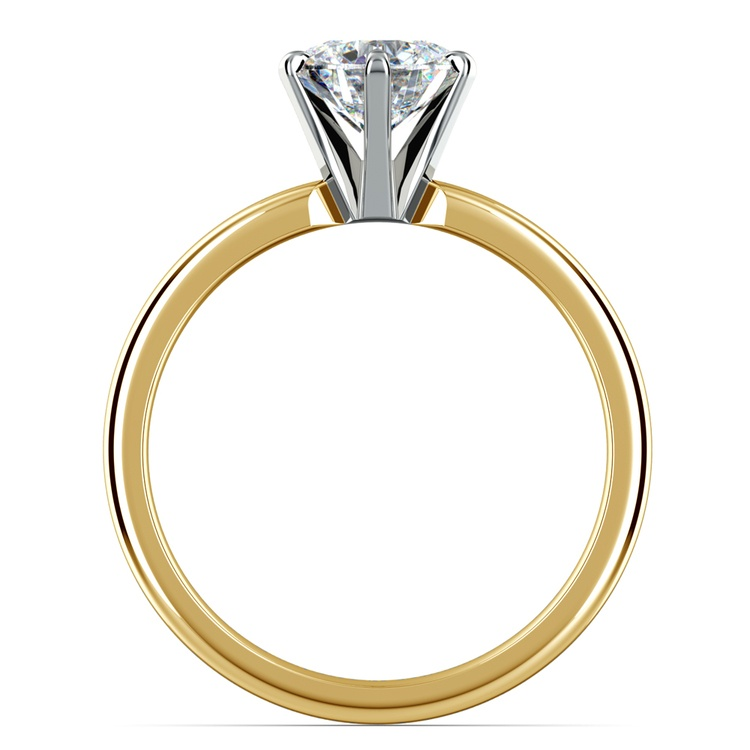 Six-Prong Solitaire Engagement Ring in Yellow Gold | 02