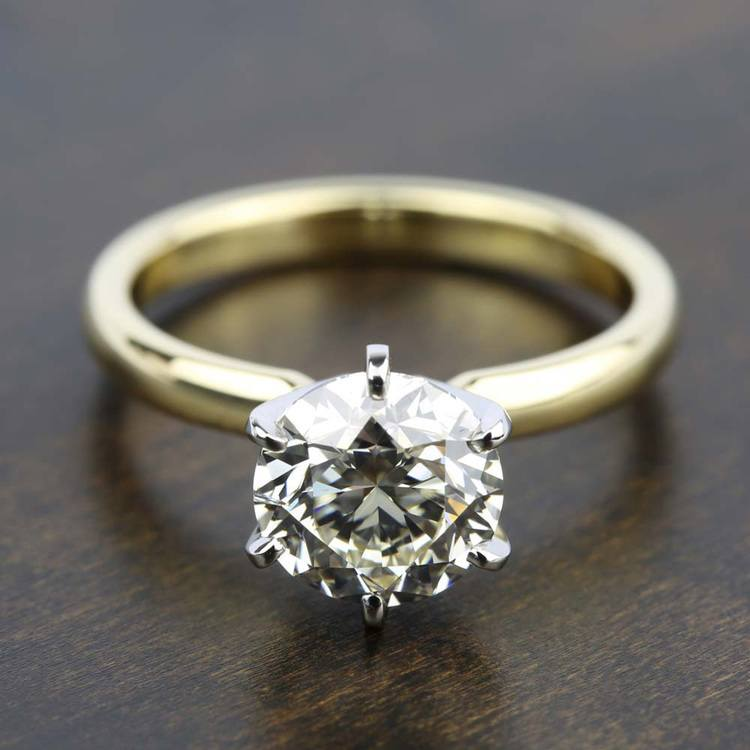 Six-Prong Solitaire Engagement Ring in Yellow Gold | 05