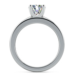 Solitaire Ring & Channel Diamond Bridal Set in White Gold | Thumbnail 02