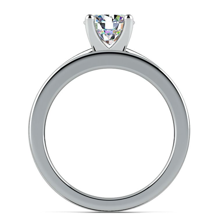Solitaire Ring & Channel Diamond Bridal Set in White Gold | 02