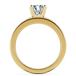 Solitaire Ring & Channel Diamond Bridal Set in Yellow Gold | Thumbnail 02