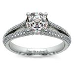 Split Shank Diamond Engagement Ring in Palladium | Thumbnail 01