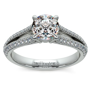 Split Shank Diamond Engagement Ring in Palladium