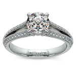 Split Shank Diamond Engagement Ring in Platinum | Thumbnail 01