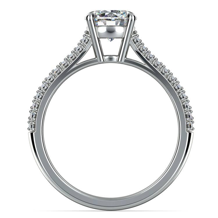 Split Shank Diamond Engagement Ring in Platinum | 02