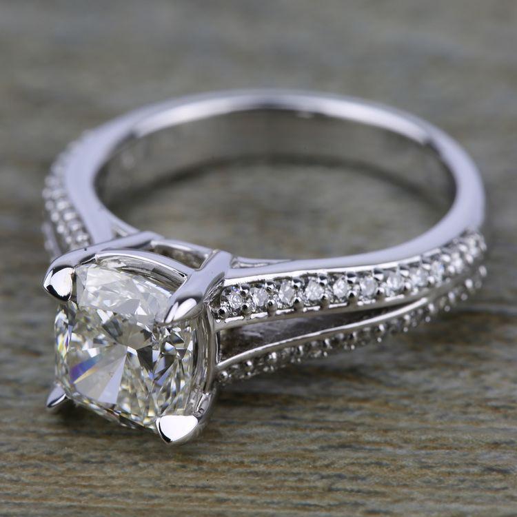 Split Shank Diamond Engagement Ring in Platinum | 05