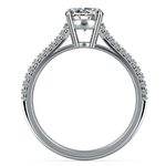 Split Shank Diamond Engagement Ring in White Gold | Thumbnail 02