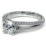 Split Shank Diamond Engagement Ring in White Gold | Thumbnail 04