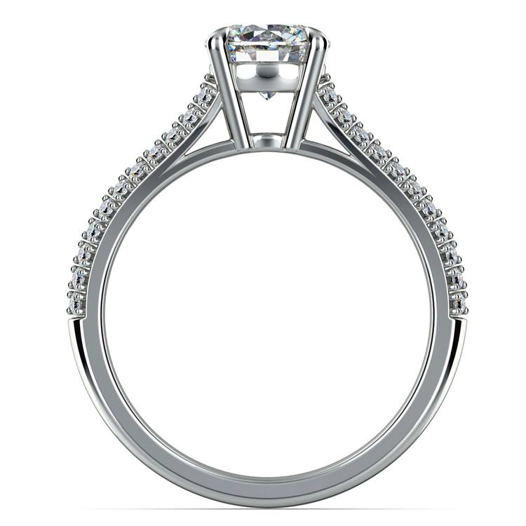 Split Shank Diamond Engagement Ring in White Gold | 02