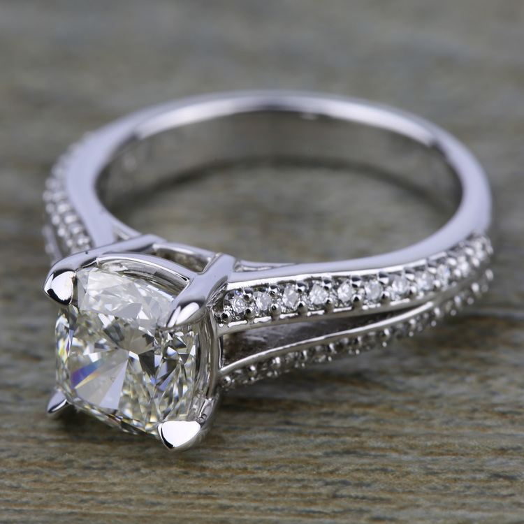 Split Shank Diamond Engagement Ring in White Gold | 05
