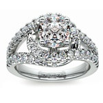 Split Shank Diamond Wrap Engagement Ring in Platinum | Thumbnail 01
