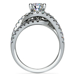 Split Shank Diamond Wrap Engagement Ring in Platinum | Thumbnail 02