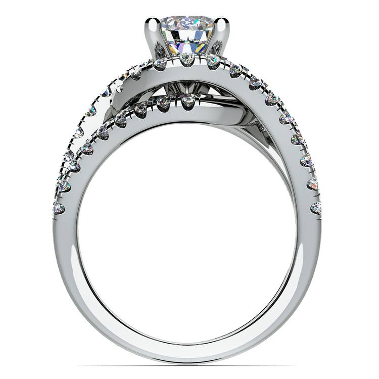 Split Shank Diamond Wrap Engagement Ring in Platinum | 02