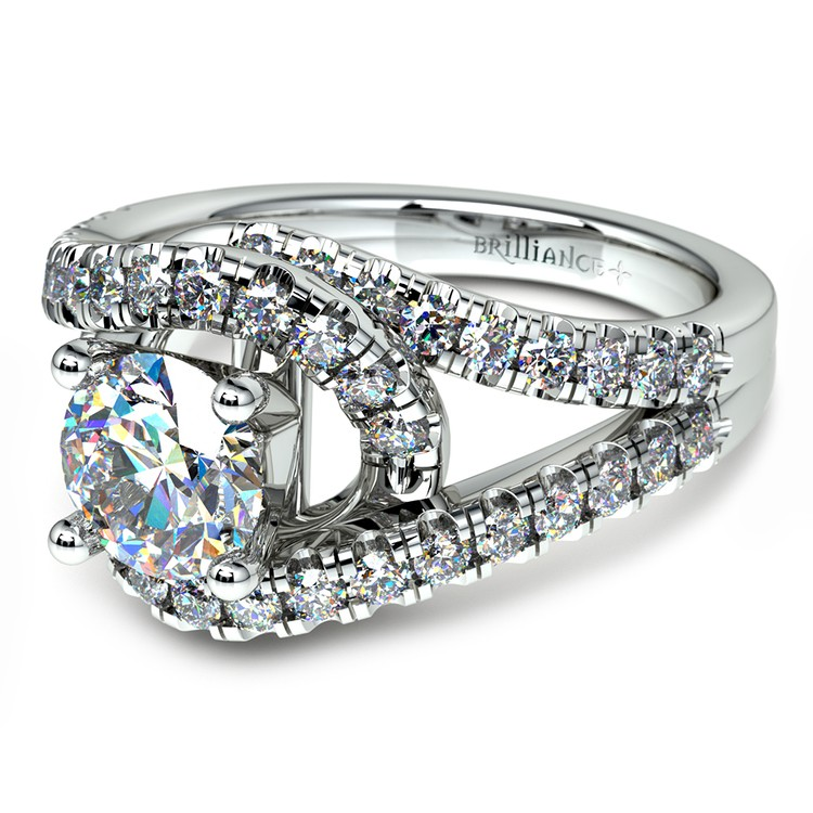 Split Shank Diamond Wrap Engagement Ring in Platinum | 04