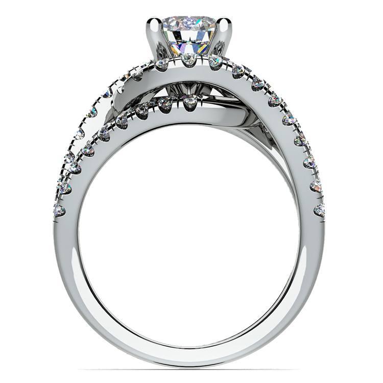 Split Shank Diamond Wrap Engagement Ring in White Gold | 02