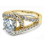 Split Shank Diamond Wrap Engagement Ring in Yellow Gold | Thumbnail 04