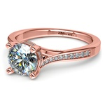 Split Shank Engagement Ring With Diamond Gallery In Rose Gold | Thumbnail 04