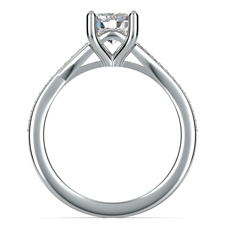 Split Shank Micropave Diamond Engagement Ring in Palladium | 02