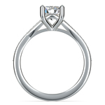 Split Shank Micropave Diamond Engagement Ring in Platinum | Thumbnail 02