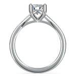 Split Shank Micropave Diamond Engagement Ring in White Gold | Thumbnail 02