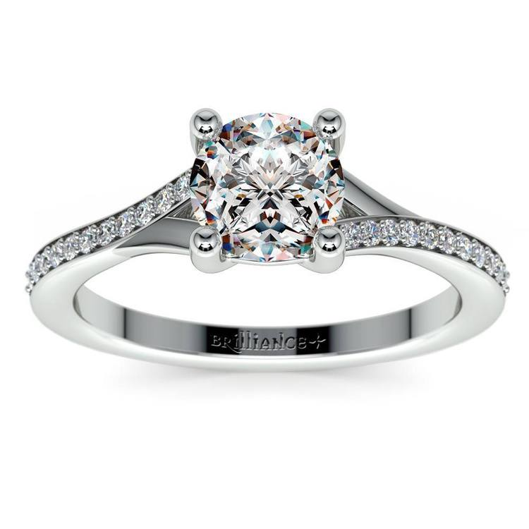Split Shank Pave Diamond Engagement Ring (1.50 carat) | 02