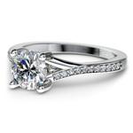1 Carat Split Shank Pave Diamond Engagement Ring | Thumbnail 01