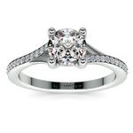 1 Carat Split Shank Pave Diamond Engagement Ring | Thumbnail 02