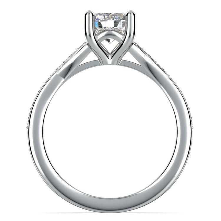 1 Carat Split Shank Pave Diamond Engagement Ring | 04