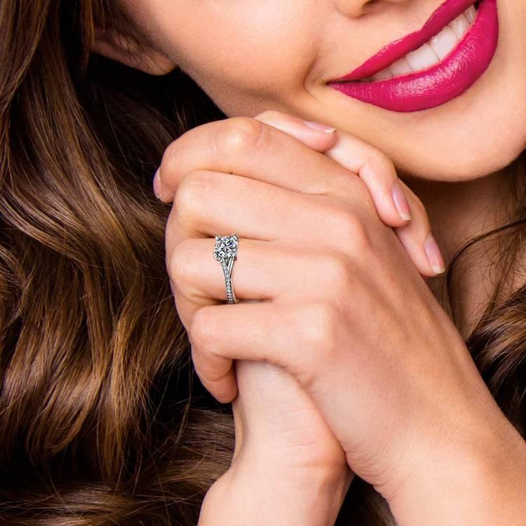 Split Shank Pave Diamond Engagement Ring (0.75 carat) | 06
