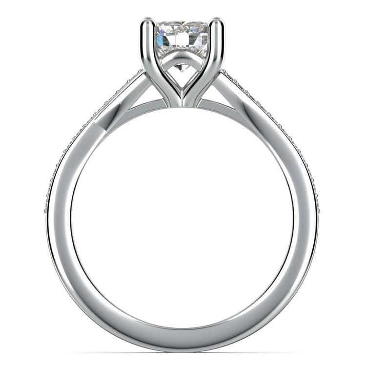 Split Shank Pave Diamond Engagement Ring (0.75 carat) | 04