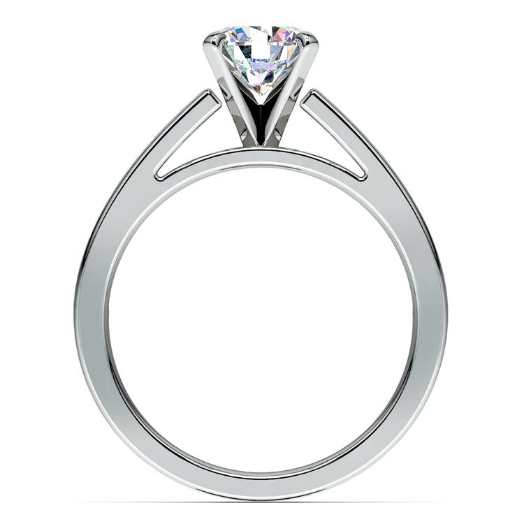 Split Shank Solitaire Engagement Ring in White Gold | 02