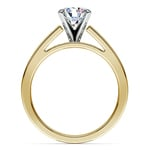 Split Shank Solitaire Engagement Ring in Yellow Gold | Thumbnail 02