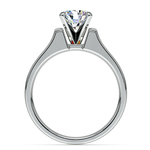 Square Contour Solitaire Engagement Ring in Palladium | Thumbnail 02