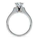 Square Contour Solitaire Engagement Ring in Platinum | Thumbnail 02