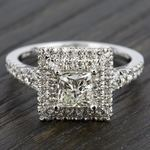 Square Double Halo Diamond Engagement Ring in Platinum | Thumbnail 05