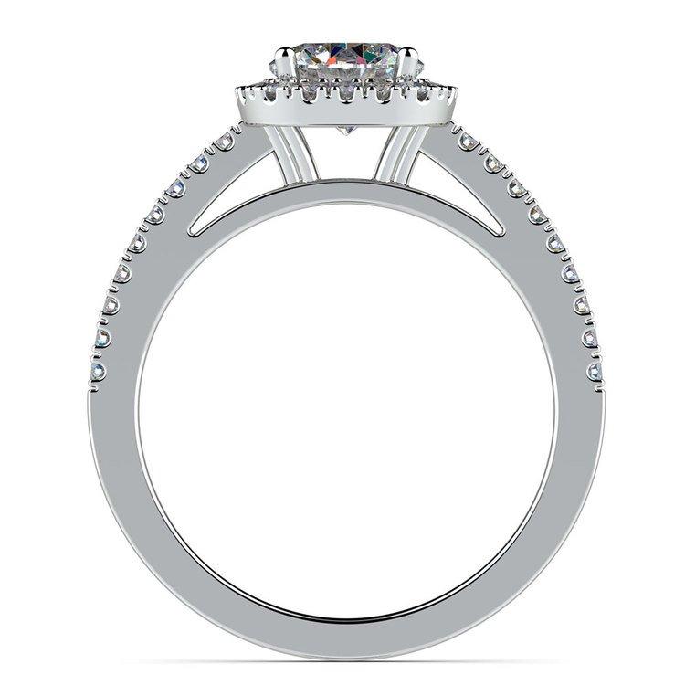 Square Halo Diamond Engagement Ring in Platinum (2/5 ctw) | 02