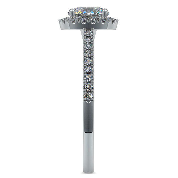 Square Halo Diamond Engagement Ring in Platinum (2/5 ctw) | 03