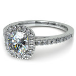 Square Halo Diamond Engagement Ring in White Gold (2/5 ctw) | Thumbnail 04
