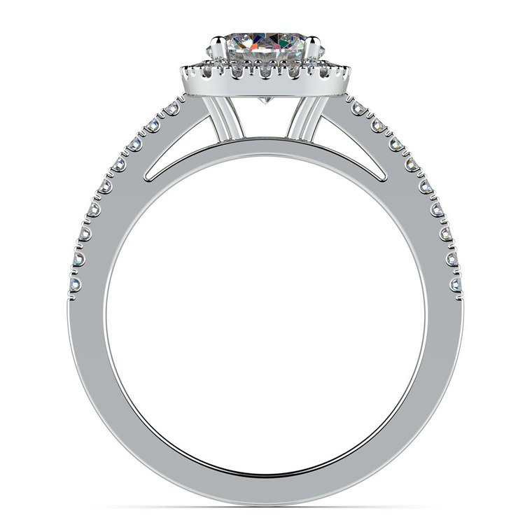 Square Halo Diamond Engagement Ring in White Gold (2/5 ctw) | 02