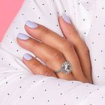 Square Halo Diamond Engagement Ring in Platinum (1/2 ctw) | Thumbnail 06