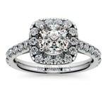 Square Halo Diamond Engagement Ring in Platinum (1/2 ctw) | Thumbnail 01