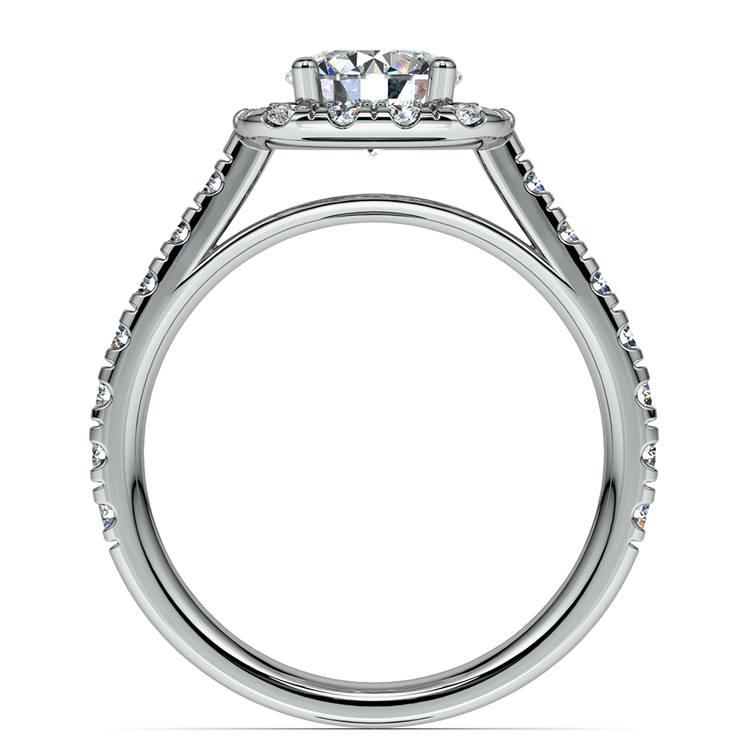 Square Halo Diamond Engagement Ring in Platinum (1/2 ctw) | 02
